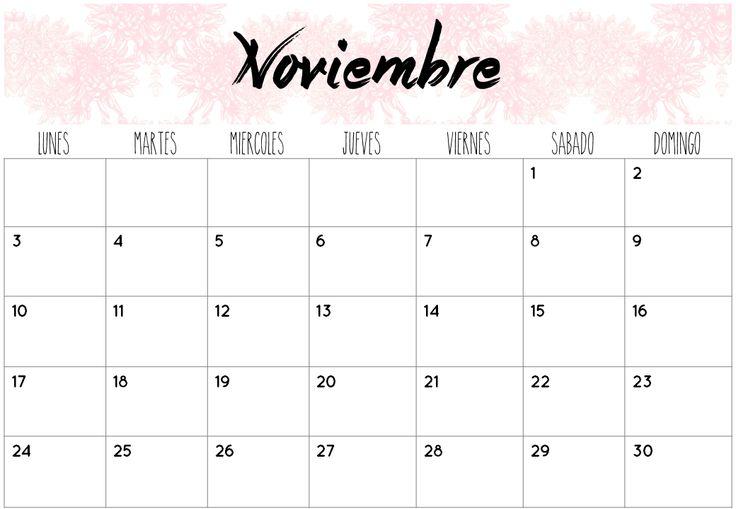 Calendarios Noviembre 2014 | Imprimibles