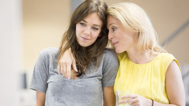 Gillian Anderson and Vanessa Kirby in the Young Vic's Streetcar Named Desire