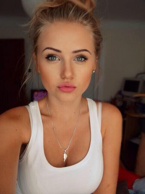 Soft makeup.