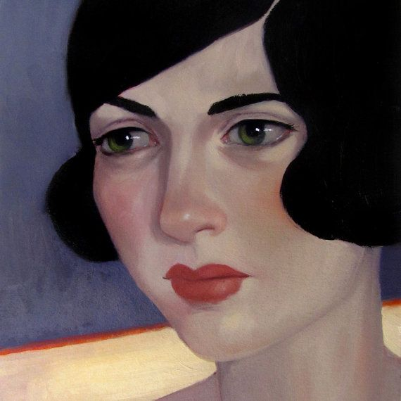 Oil Painting Flapper Portrait Original Lost by TheBrilliantMagpie