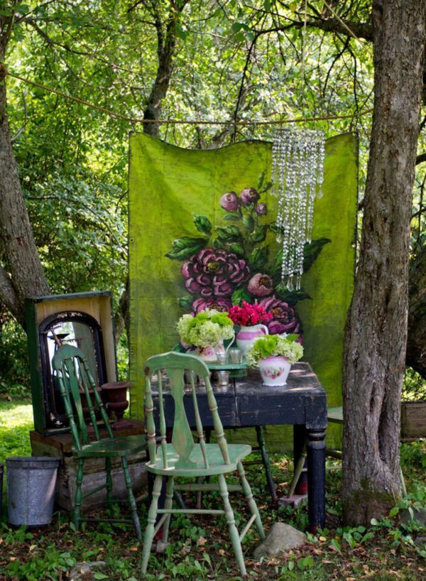 12 Shabby Chic & Bohemian Garden Ideas Garden Decor