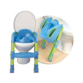Thermobaby Kiddyloo Toilet Seat Reducer Potty Trainer - Blue, (potty seat, potty training, toilet training, potty, potty chair, step stool, toddler, best potty seat, step stools, baby)