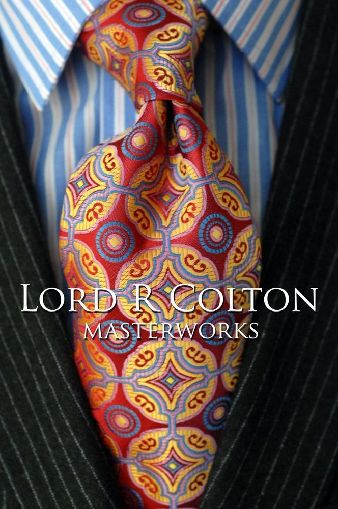 Lord R Colton Masterworks Tie - Isla Negra Red Woven Silk Necktie - $195 New #LordRColton #NeckTie