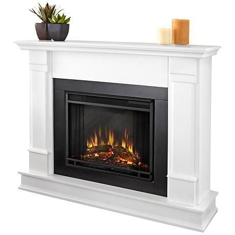 Real Flame Silverton White Mantel Electric Fireplace