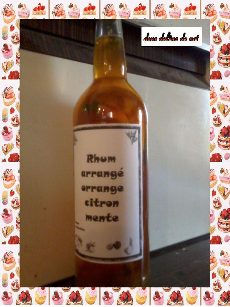Rhum arrangé orange,citron vert et menthe : - Doux Délices ...