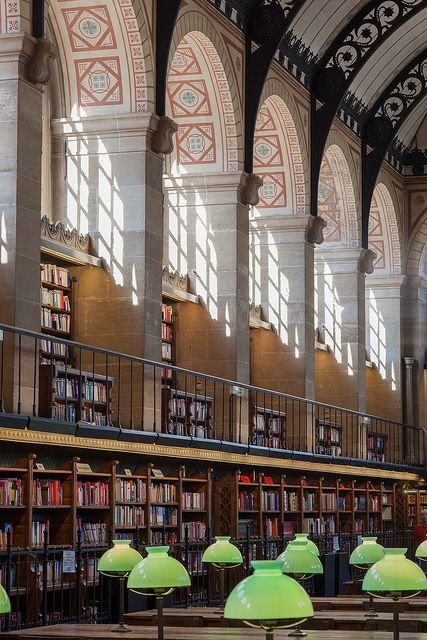 Bibliothèque Sainte Geneviève, Paris/ I spent so many hours in this library when I was young! First, long vasted time to get one book because of a stupid system of storage!/DB