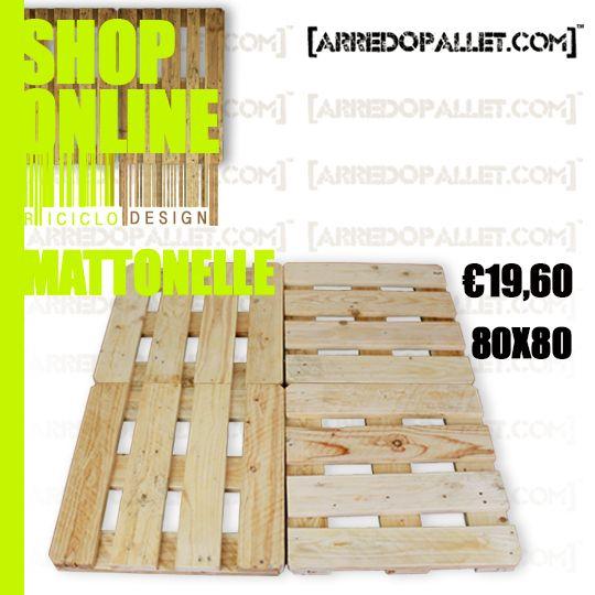 #ArredoPallet queste #mattonelle sono ottime per creare un percorso in giardino acquistale su http://www.arredopallet.com/prodotto/mattonelle/