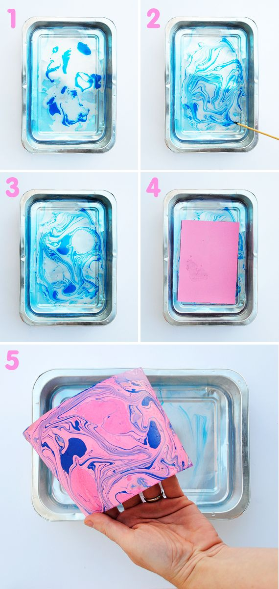 How to make marbled paper. Wrapping paper anyone?