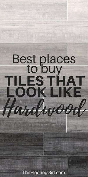 Tiles that look like hardwood and the best places to buy them.  #woodlook #tile #flooring #hardwood #homedecor #diyhomedecor