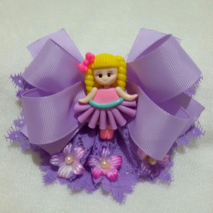 Princess purple fluer hairclips