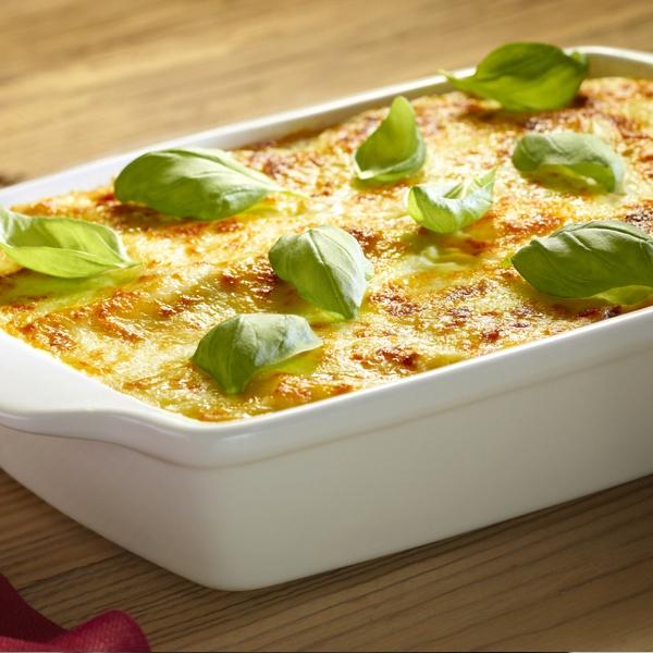Lasagne z mozzarellą i suszonymi pomidorami - Kuchnia Lidla #lidl #przepis #lasagne #mozzarella #pomidory
