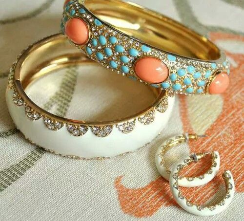 all of my fav summer jewelery colors in one