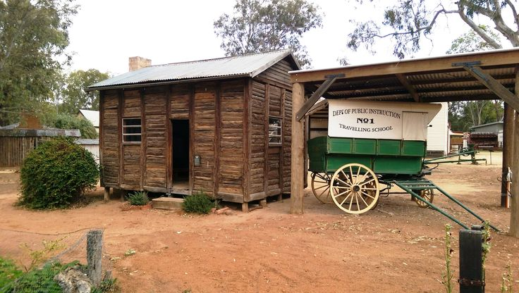 Pine Point School and Traveling School at Pioneer Settlement, Swan Hill, Victoria, Australia