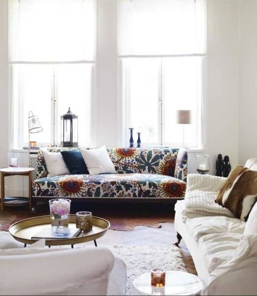 Eclectic vintage modern scandinavian living room living for Eclectic living room images