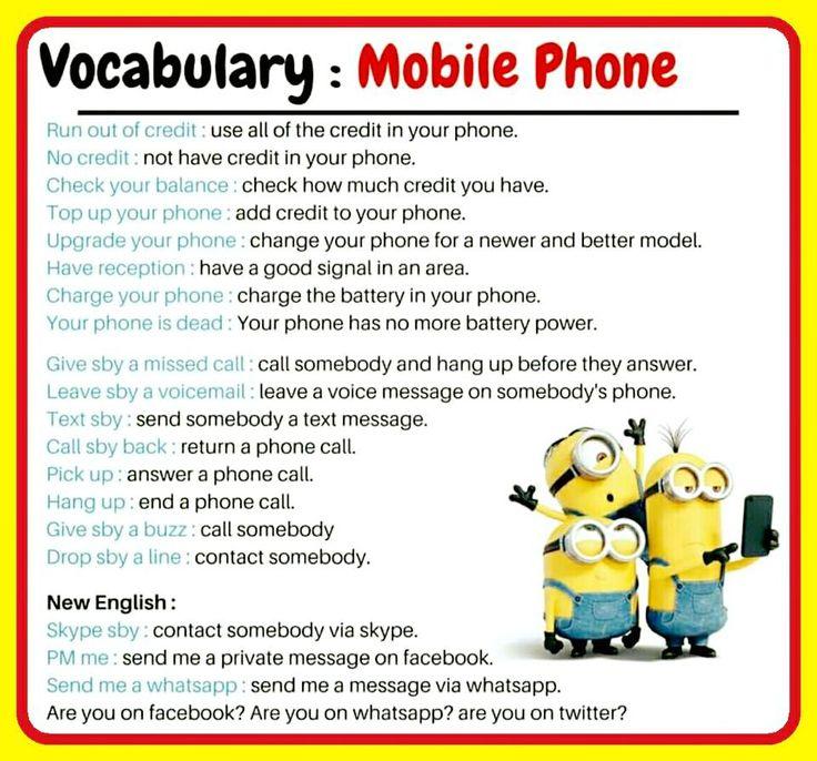 Forum | ________ Learn English | Fluent LandVocabulary: Mobile Phone | Fluent Land