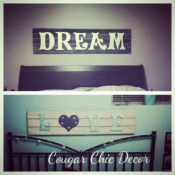 I love it when my clients send me photos of their Cougar Chic Decor goodies in their homes! These were 2 #custom #barnwood #lightupsigns that I made for #christmasgifts ...#shoplocal #handmade #girlboss #nailedit www.albertadames.ca