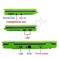"""LIME GREEN 7"""" Mini Netbook Laptop Notebook Netbook WIFI Internet Android 2.2 Tons Apps Games YouTube Facebook 3 USB Ports 4gb HD 256mb Ram (INCLUDES: Velvet Pouch Case, Charger, Mini Optical Mouse)  Product sku: 104 Availability: Out Of Stock  Price:  $99.99"""