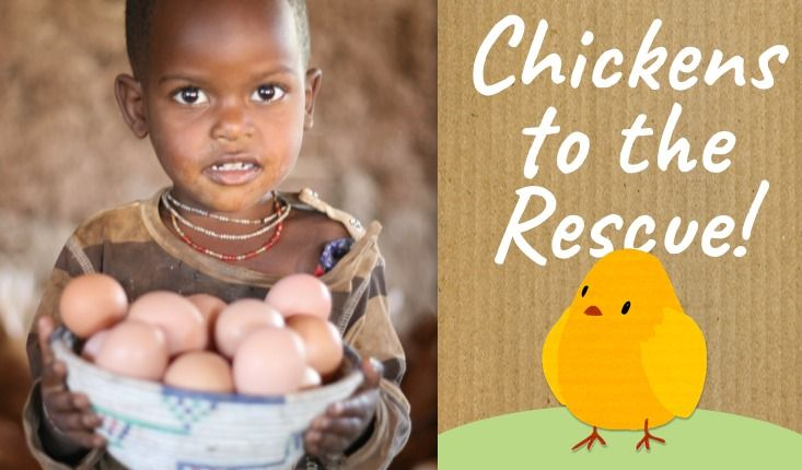 Chickens to the Rescue! Happy Easter! Buy a chicken this Easter and help change the life of a family in need. http://www.worldvision.ie/gifts/easter
