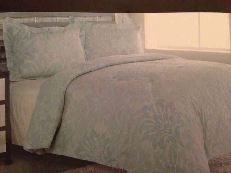 3pc Set Floral Jacquard Duvet Cover Standard Shams 100