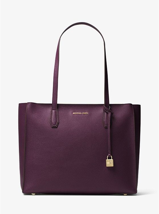 Mercer Large Top-Zip Leather Tote