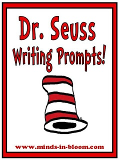 20 Fun Dr. Seuss Themed Writing Prompts!     http://www.minds-in-bloom.com/2012/02/dr-seuss-themed-writing-prompts.html