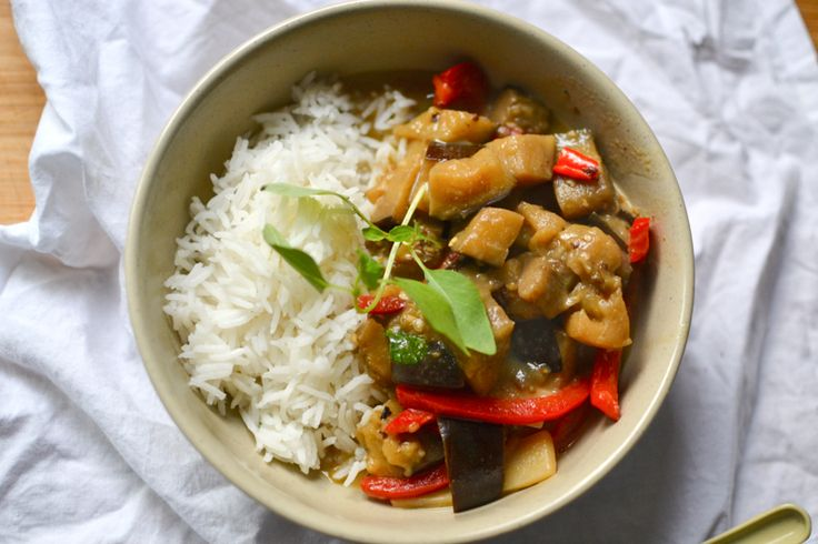 Eggplant Green Curry | Food, glorious food | Pinterest