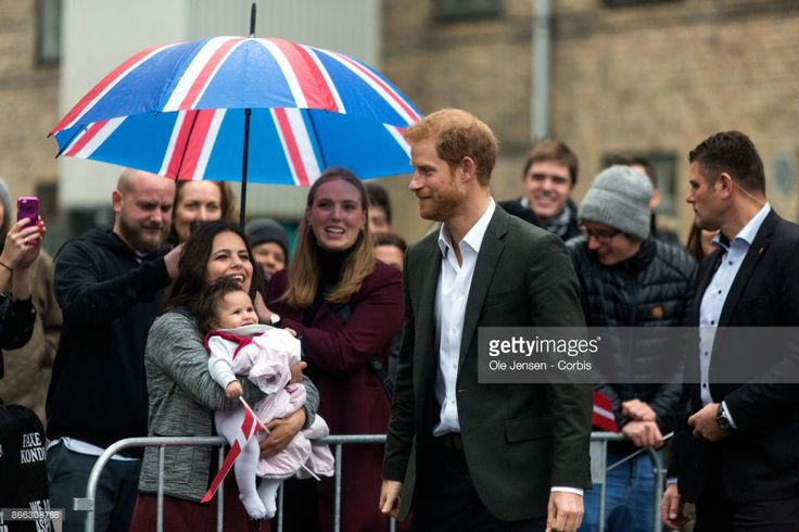 Prince Harry arrives to Game Denmark and takes time talking to spectators during the first of his two days stay in Denmark on October 25, 2017 in Copenhagen, Denmark. Game Denmark is a street sport activity center for youngsters.