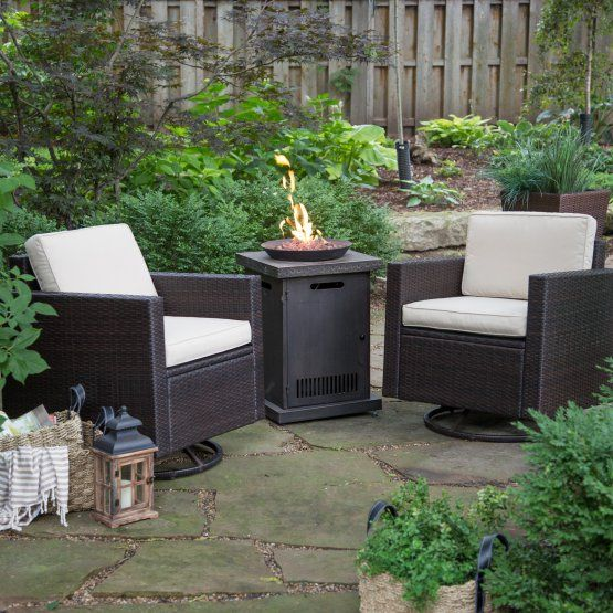 Coral Coast Berea Wicker Conversation Set with Red Ember ...