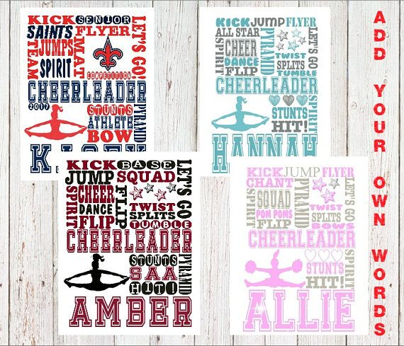 Personalized cheerleader print, Cheer gifts, Cheerleading Team gifts, personalized cheerleading gift, cheer coach gift, end of season gift