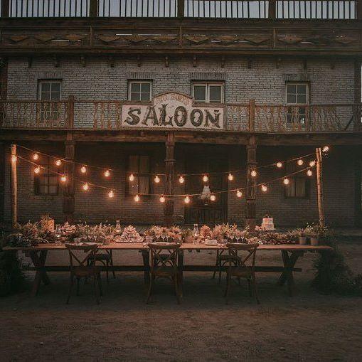 Una boda orientada en las películas del oeste ... se yo que a más de uno le encantaría celebrarlo así!! 😊😊📷@pablolaguia #deco #decoracion #decoracionboda #weddingdeco #westwedding