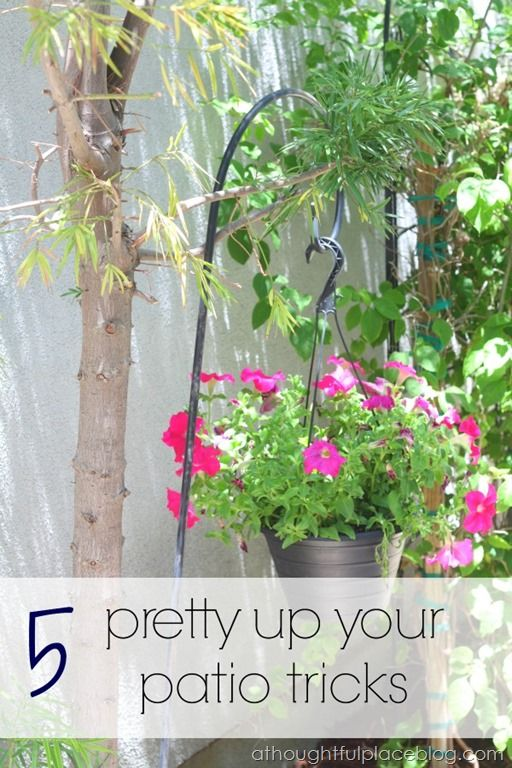 5 Easy And Inexpensive Tips For A Pretty Patio
