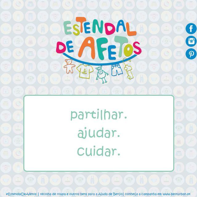 Participar no #EstendalDeAfetos é muito mais do que dar umas coisinhas. É…  Saiba como fazê-lo em https://goo.gl/PWw5kY   #EstendalDeAfetos #AjudaDeBerço #ajudar #partilhar #cuidar