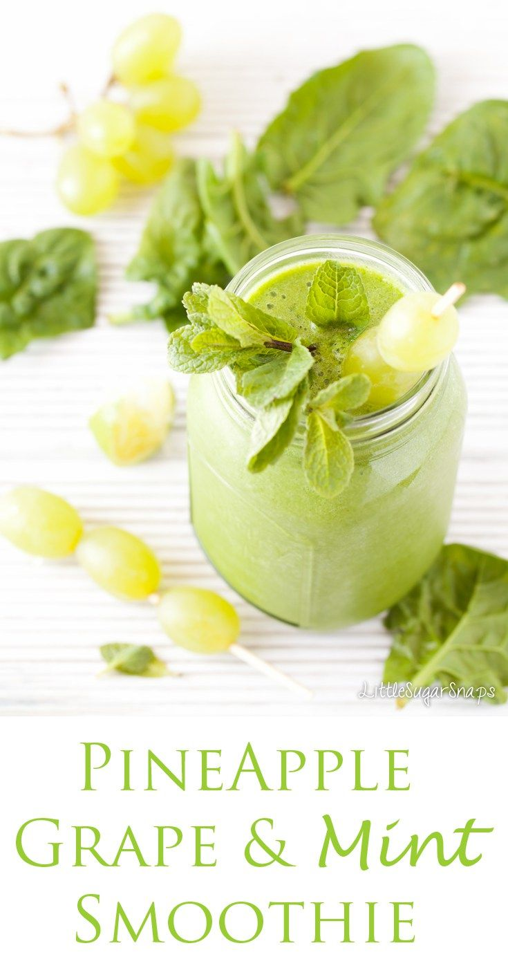This Green Goddess Grape Smoothie combines fruit, coconut water, spinach and mint to create a drink that is packed with goodness and delightfully slurpable.