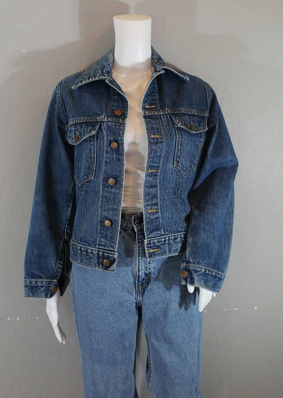 0d3f1fbfe56 Vintage Denim Jacket Sears and Roebuck