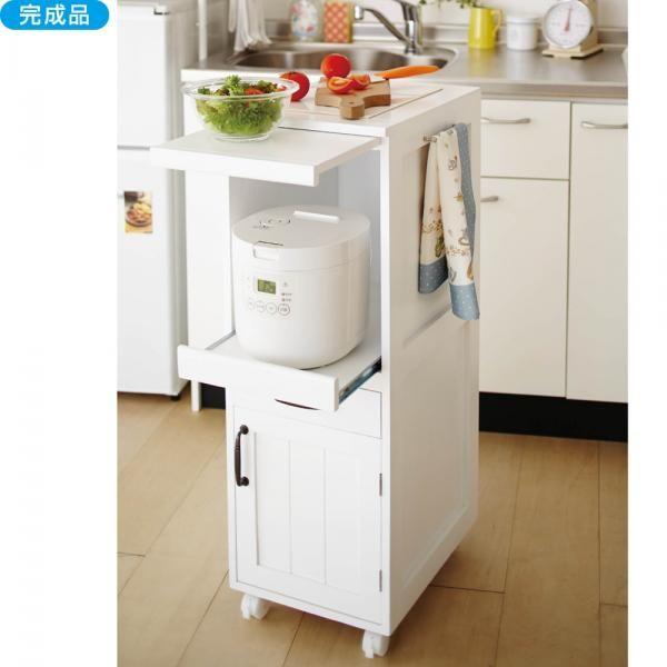 【直送】炊飯器ワゴンAX|かわいい姫系インテリア家具・雑貨の通販|キッチンカウンター・ワゴン|ロマンティックプリンセス(ロマプリ)