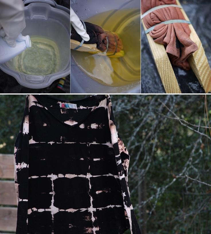 Les 25 meilleures id es de la cat gorie tie dye inverse for Bleach dye shirt instructions