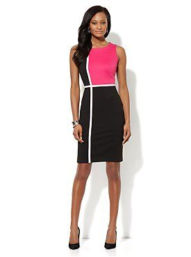 Colorblock Ponte Sheath Dress from New York %26 Company - simple but catchy... just perfect!