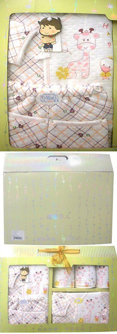 Healthy-BB 7 Pack Newborn Baby Boys or Girls Bath Gift Set Box Winter Warm Bodysuits Bib Handkerchiefs Gloves