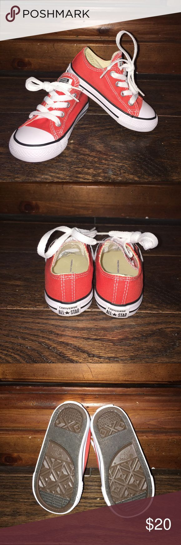 NIB Converse Toddler Low All Star Sneakers Ornge 8 New in box. Size 8 toddler canvas sneakers in orange. Sorry nontrades, but offers welcomed. Pricing comments will be ignored. Converse Shoes Sneakers