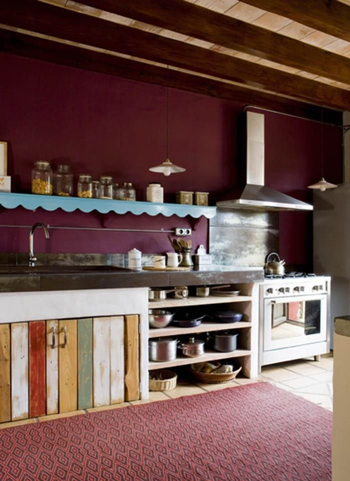 That berry paint with the kitchen doors