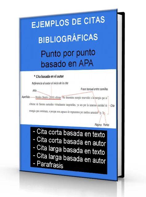 Ejemplos de citas bibliográficas - Punto por punto - Norma APA - PDF   LibreArchivo