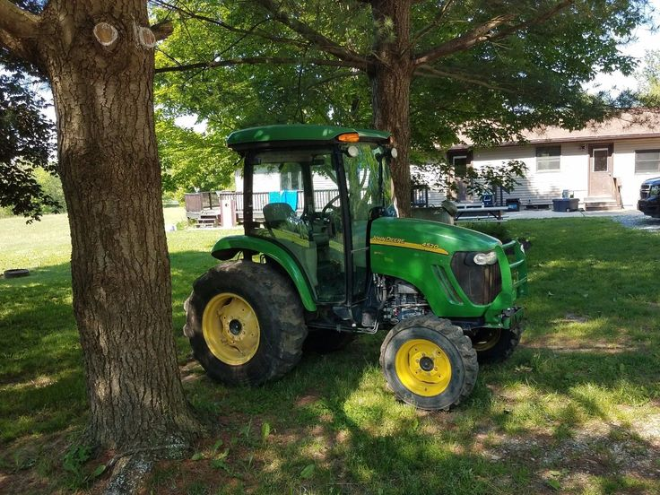 The 25 best john deere compact tractors ideas on pinterest john deere 4520 4x4 compact tractor w 53hp diesel hydro 3600 hrs cab fandeluxe Choice Image
