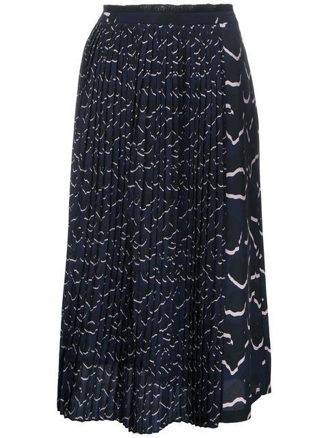 MARKUS LUPFER Printed Pleat Skirt. #markuslupfer #cloth #skirt