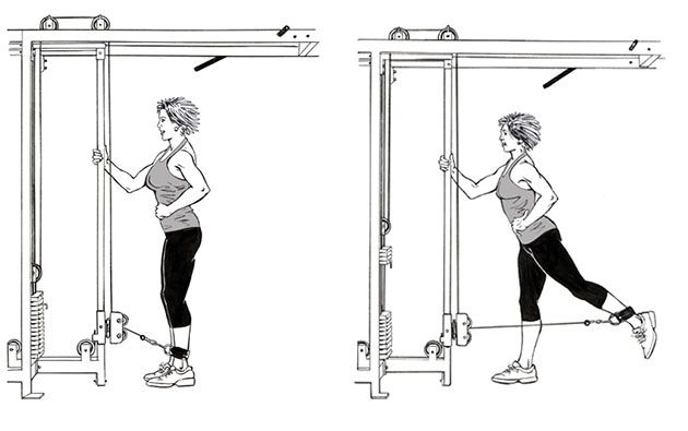 Best Glute Exercises - Cable Kickbacks
