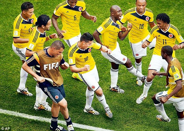 Everyday I'm Shufflin': James Rodriguez's goal against the Ivory Coast sparked this dancealong