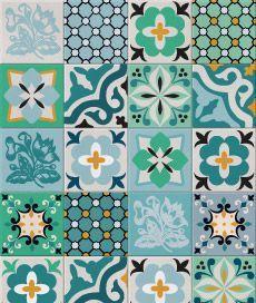 hidráulico 2 (verde). kit com 20 adesivos para azulejo. cobre completamente o azulejo original.. Criado por Frauke Meyer / Leo Conrado.