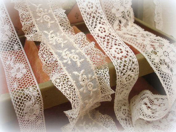 Net lace; embroidered organza; industrial lace insert imitating crochet Irish Lace ~~ http://media-cache-ak0.pinimg.com/736x/bf/29/c4/bf29c4e5a33d525b157586152cdddc10.jpg