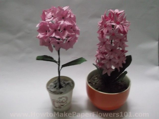 How to Make Your Own Paper Flowers   Paper Hydrangea Flowers *