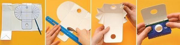 Кошелек из упаковки тетра-пак есть шаблон-выкройка
