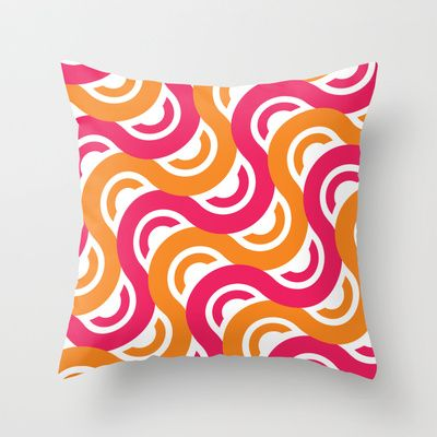 refresh geometric pattern Throw Pillow by emma method - $20.00